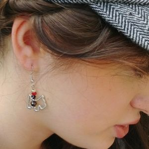 Jewelry - Cute Silver Scottie Earrings